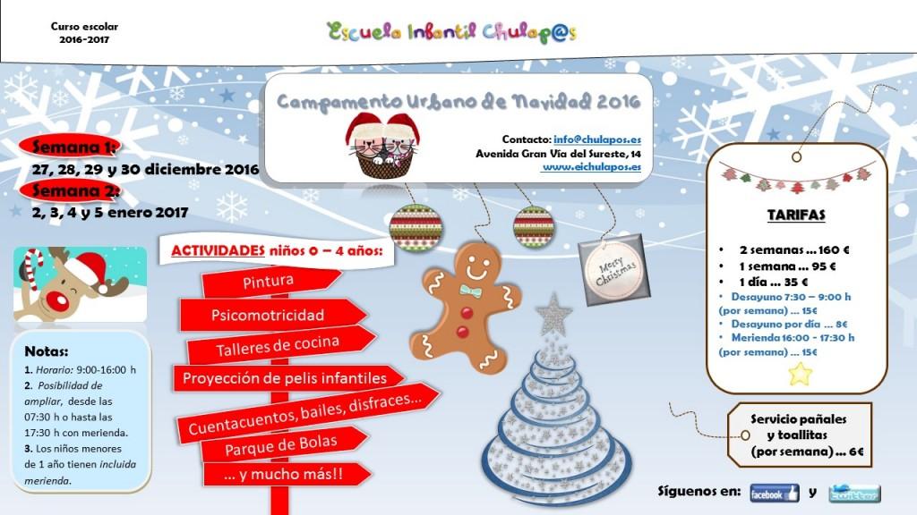Campamento navidad 2016 Escuela Infantil Chulapos