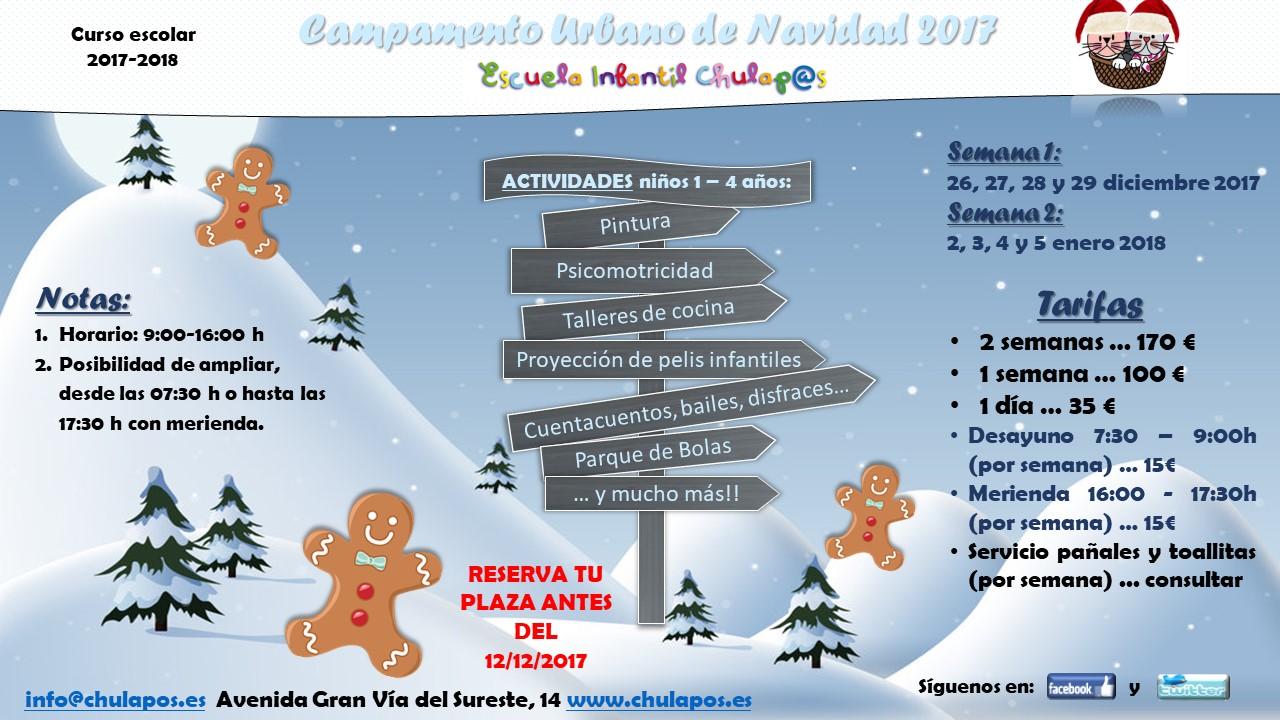Campamento Navidad 2017 Escuela Infantil Chulapos