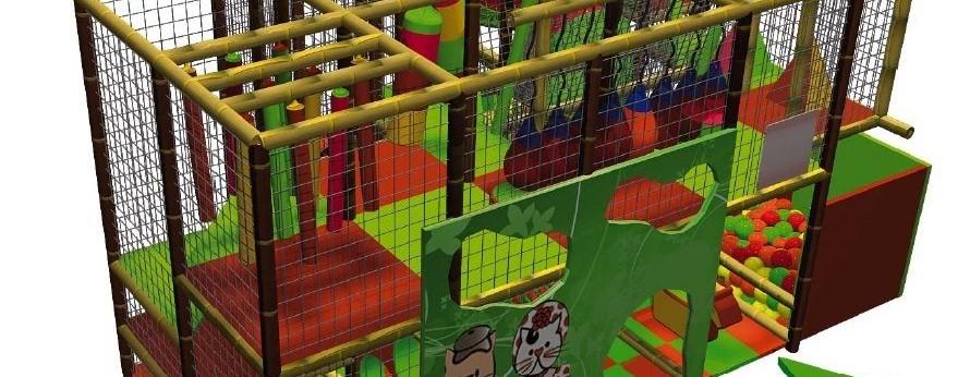 Parque de bolas Chulapos. Diseño 3D