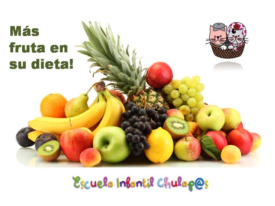 Más fruta en su dieta!