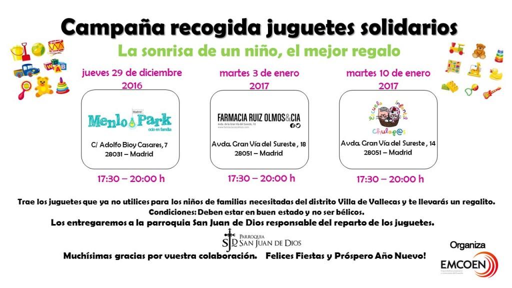 Campaña recogida juguetes solidarios (navidad 2016)
