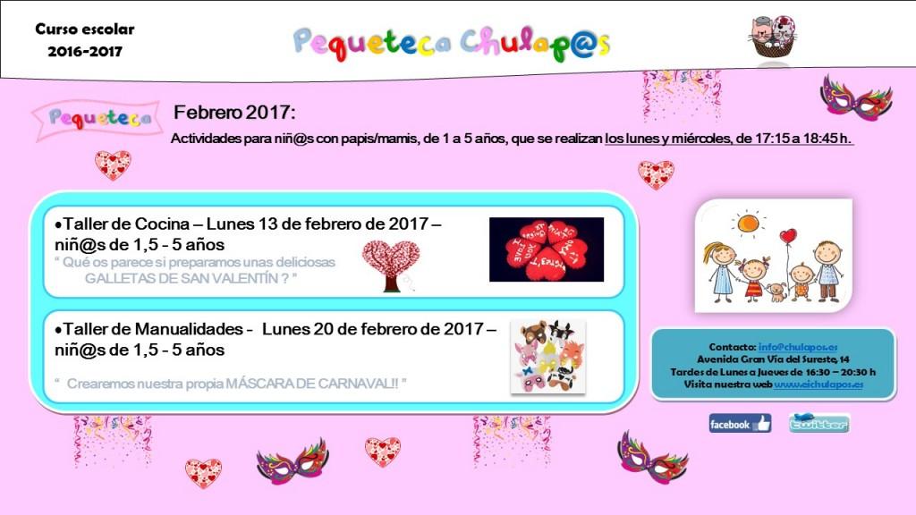 Pequeteca Febrero 2017