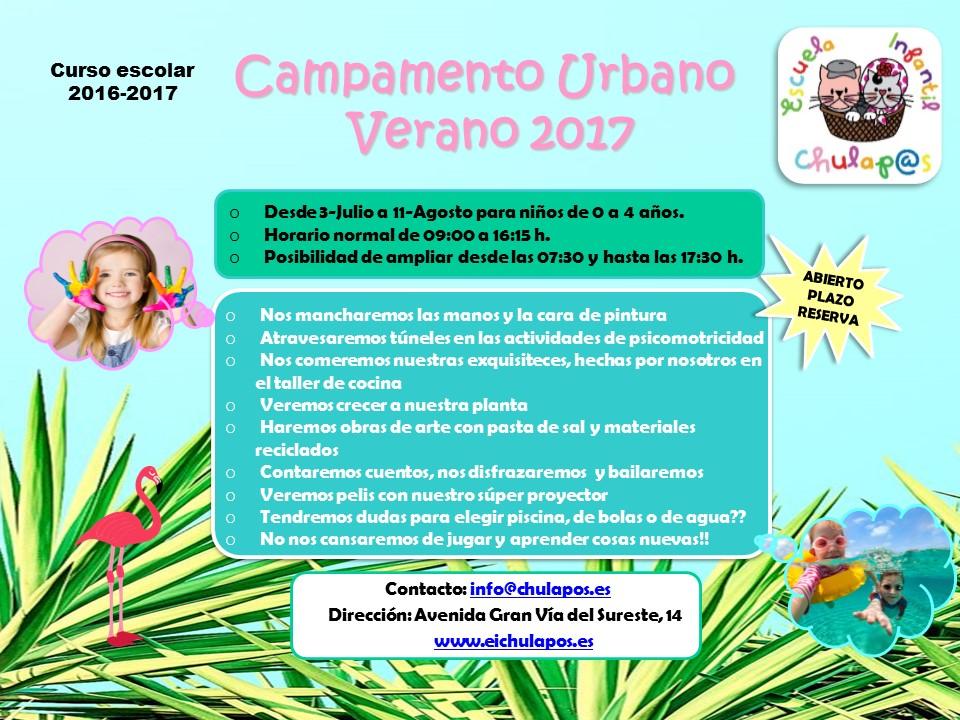 Campamento Verano 2017 - EI Chulapos 1