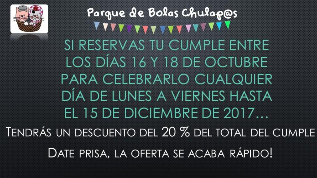 Oferta Parque de Bolas Octubre