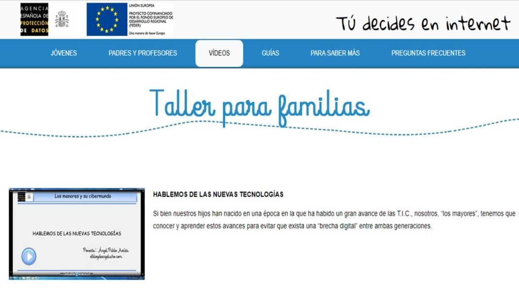 Taller para las familias