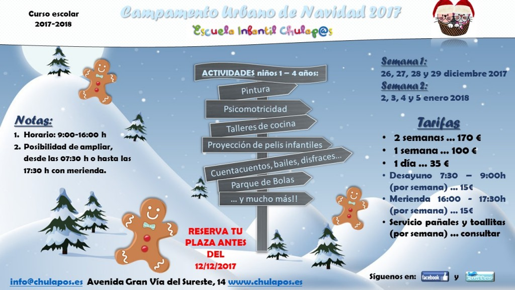 Campamento Navidad Chulapos 2017