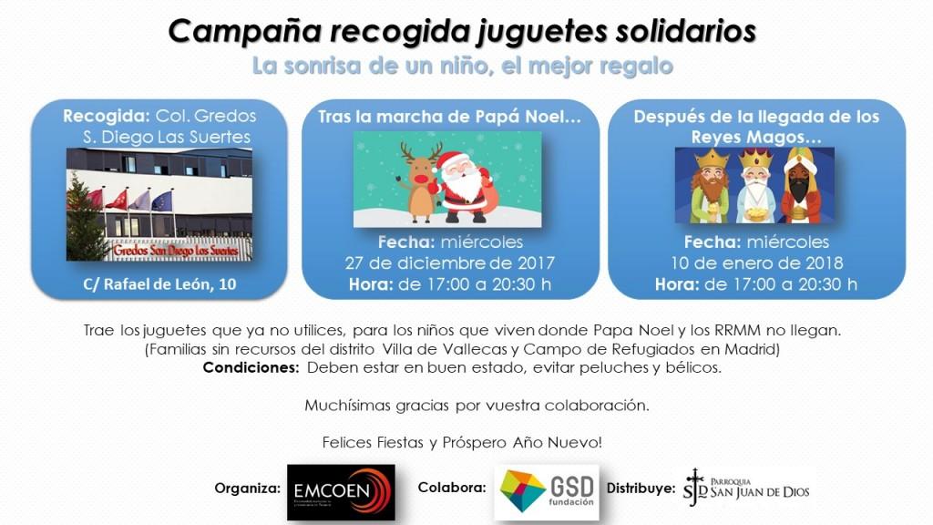 Campaña recogida juguetes solidarios 2017