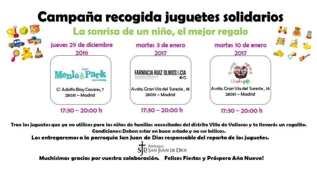Campaña recogida juguetes 2016-2017
