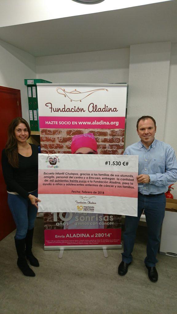 Entrega 1530€ a fundación Aladina