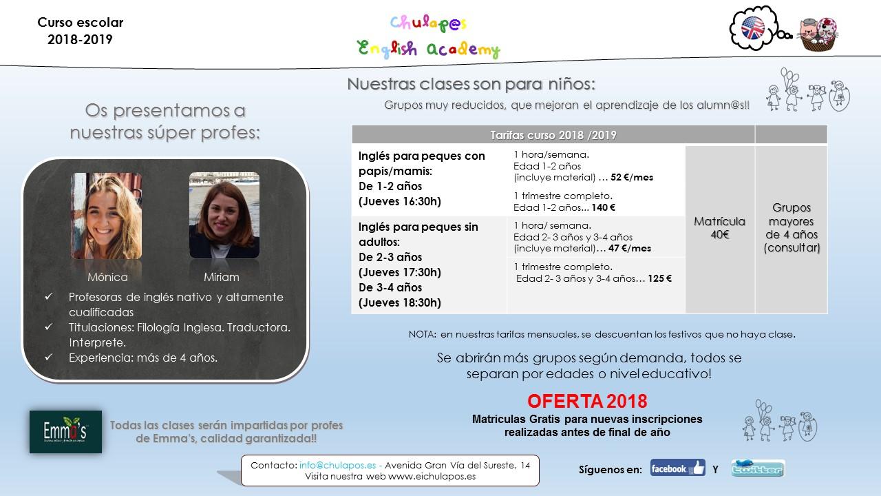 English Academy Chulapos- Emma's INFO curso 2018-19