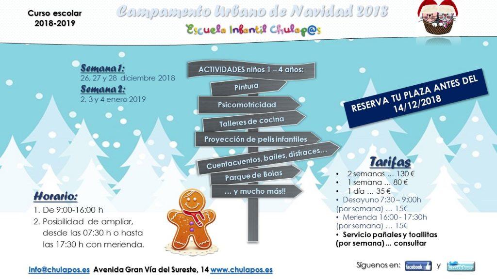 Info Campamento Urbano Navidad 2018 Chulapos