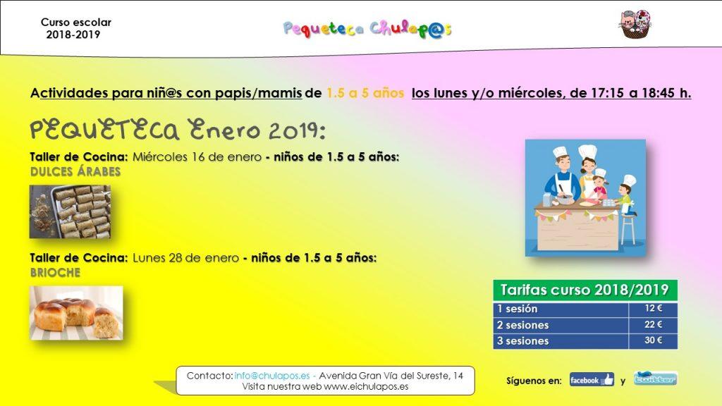 Info Pequeteca EI Chulapos 2018-2019 - enero 2019