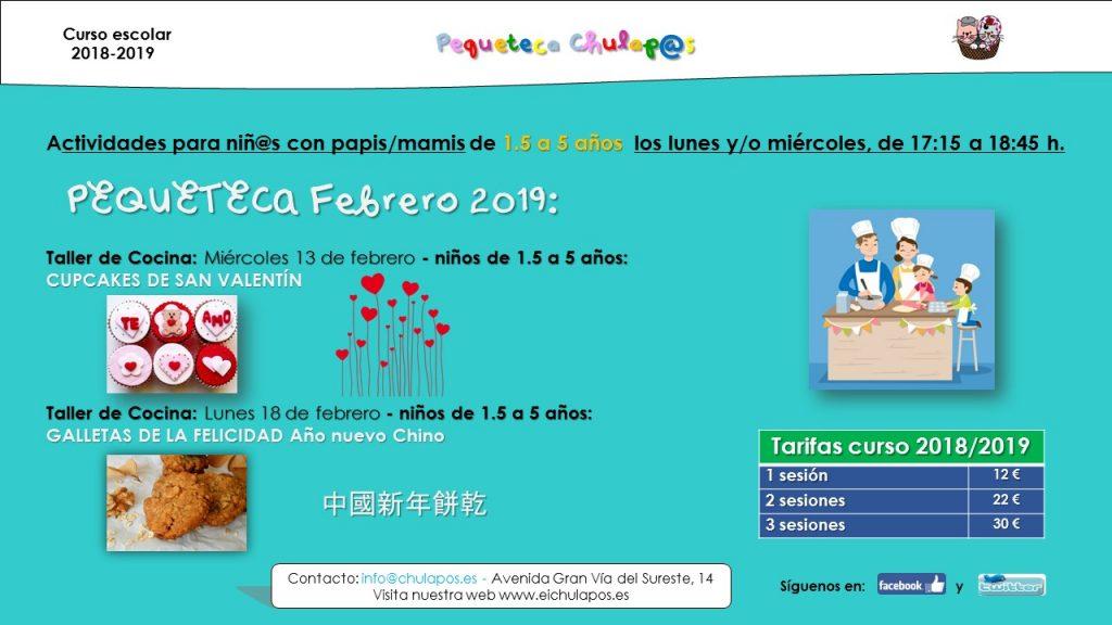 Info Pequeteca EI Chulapos 2018-2019 - febrero 2019