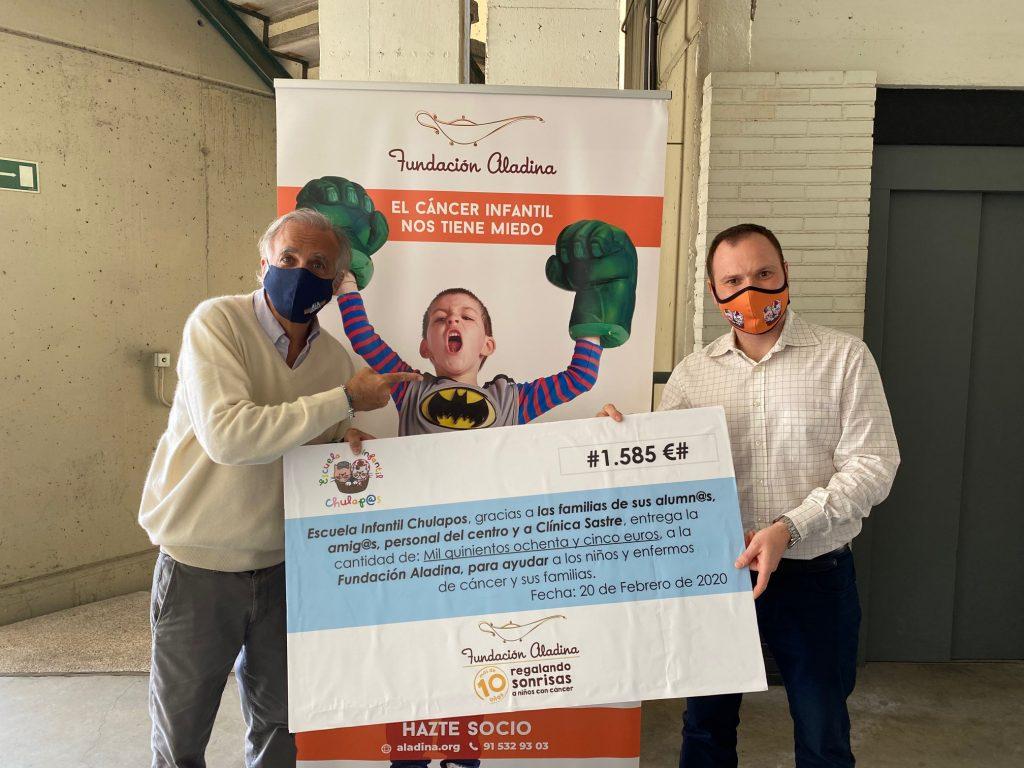 Entrega donativo Aladina 2020